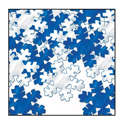 Blue and silver Confetti snowflakes