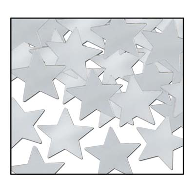 Silver Confetti Stars for any party