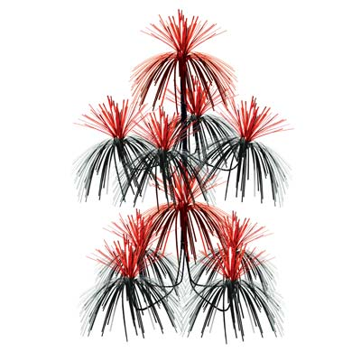 Red and Black Firework Chandelier