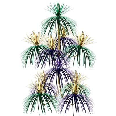 Purple, Green and Gold Firework Chandelier