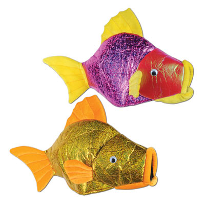 Plush designed fish hats.