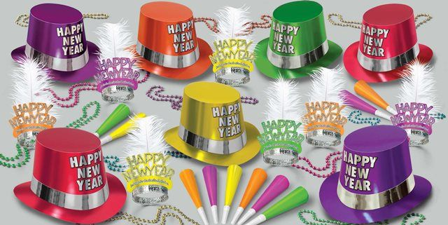Fluorescent New Years Eve Party Kit for 50 People