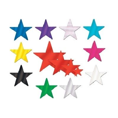 Foil star cutouts