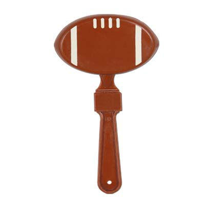 hand held party clapper in the shape of a football