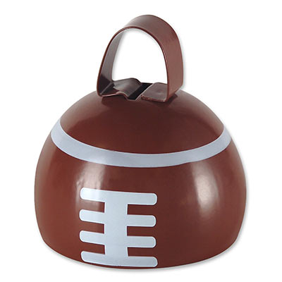football shaped metal cowbell