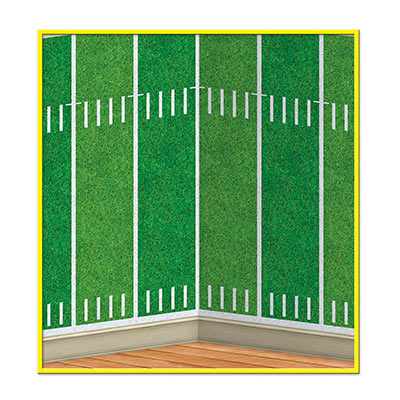 Football Field Backdrop printed on thin plastic material.