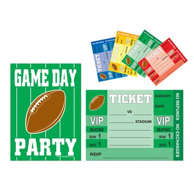 Invitations for any football game day event.
