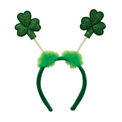 Glittered Shamrock Boppers Headband