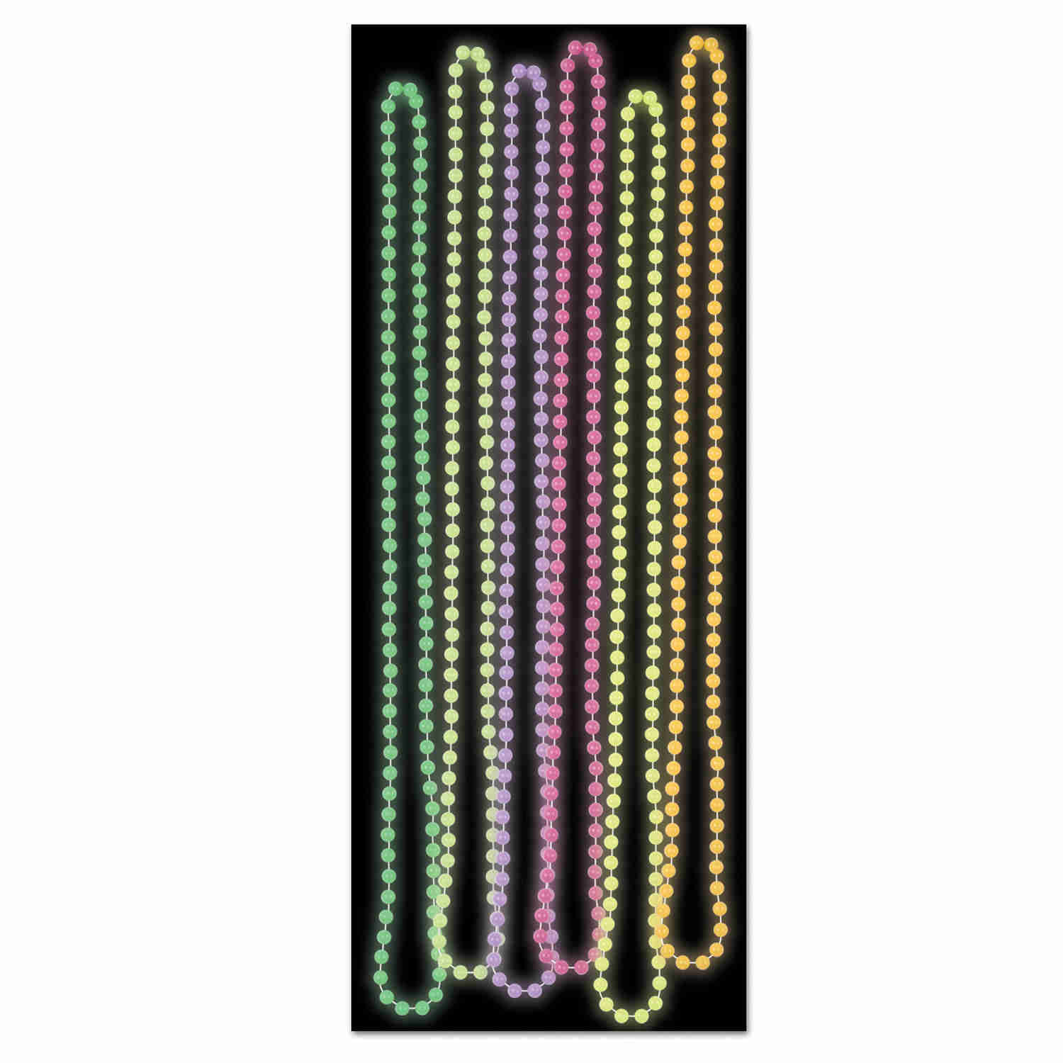 glow in the dark round party beads