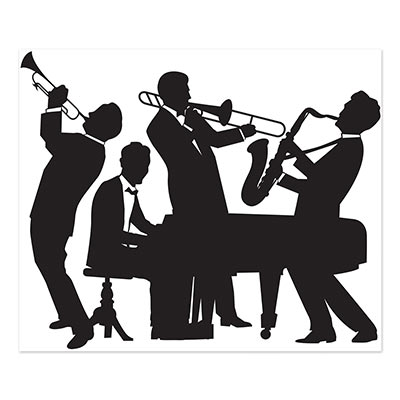 Great 20s Jazz Band Mural Silhouettes