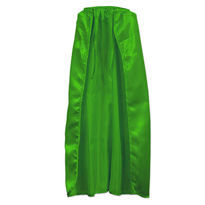 Green silk like fabric cape.