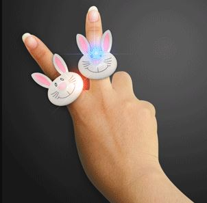 Happy Bunny Rabbit LED Rings. These Happy Bunny Rabbit LED Rings are perfect Easter egg stuffers for the kiddos.