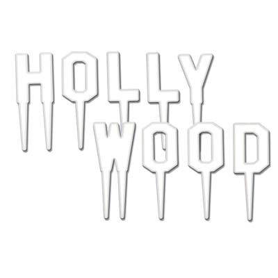 White Hollywood Picks cupcake decoration