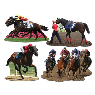 Horse Racing Cutouts of realistic prints from a horse race.