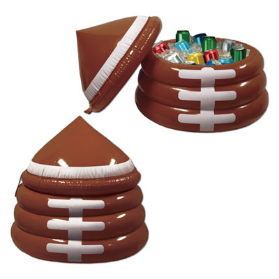 Brown Inflatable Football Cooler