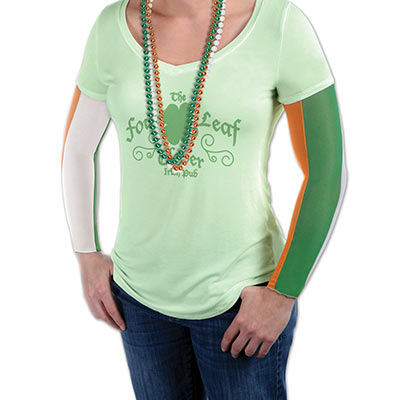 Green, White and Orange Irish Party Sleeves