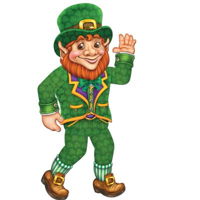 Cartoon designed leprechaun printed on card stock material.