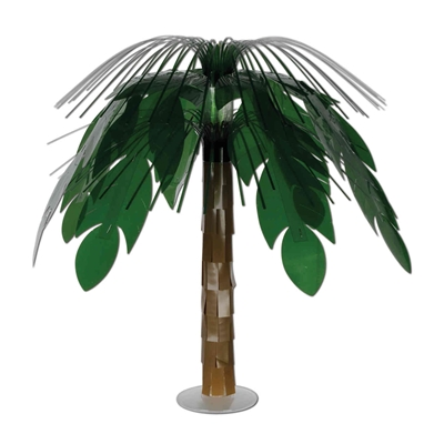 party centerpiece that looks like a palm tree