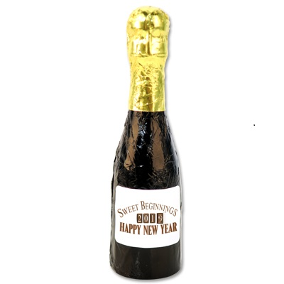 chocolate champagne bottle for new years eve