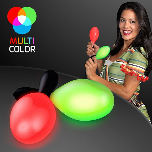 Light Up Maracas (Pack of 12) Cinco de Mayo, fiesta, nye, summer, inexpensive, decoration, party, favor, wholesale, bulk