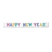 Happy New Year Banner with bright colored letters