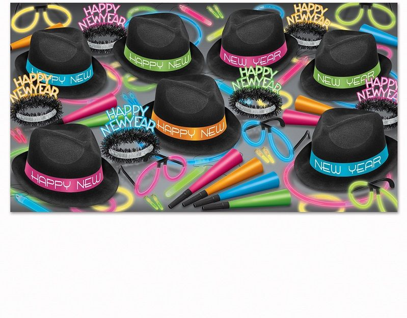 Neon Glow Chairman - New Years Party Kit for 50 Neon Glow Chairman Asst for 50, new years eve, glow, party favors, kit assortment, wholesale, inexpensive, bulk