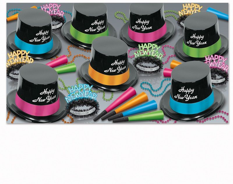 Neon Legacy - New Years Party Kit for 50 Neon Legacy Asst for 50, black light, new years eve, party favors, wholesale, inexpensive, bulk
