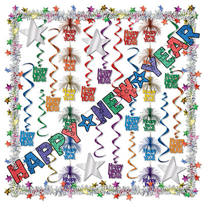 New Year Decorating Kit - 27 Pieces Decorating Kit, Hanging Decoration, Decor, Party favors, Inexpensive decorations, Bulk, Supplies