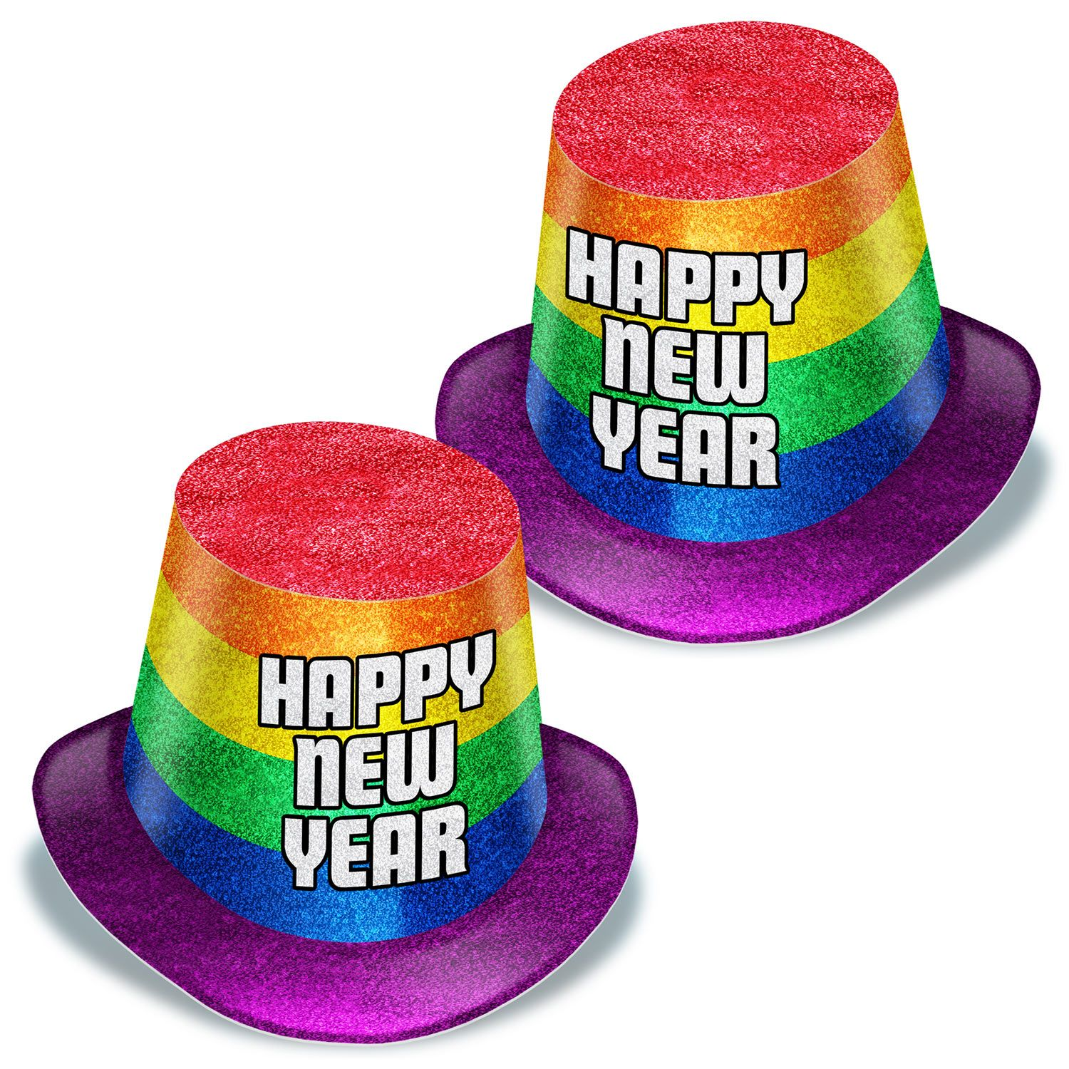New Year Pride Hi-Hats (Pack of 25)