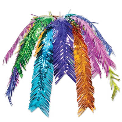 Palm Leaf Cascade (Pack of 12) Palm Leaf Cascade, New Years eve, Luau, multi-color, palm tree, ceiling, decoration, wholesale, inexpensive, bulk