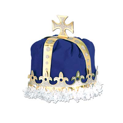 Blue Royal Kings Crown with Gold