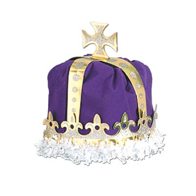 Purple Royal Kings Crown with Gold
