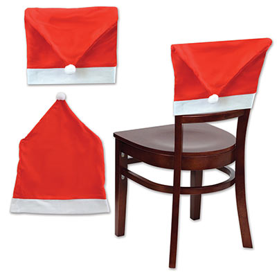 Santa Hat Chair Cover Decoration