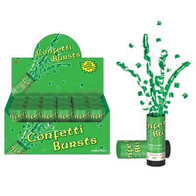 Fun Green St Patricks Day Confetti Bursts
