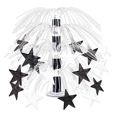 Black and White Star Cascade Centerpiece