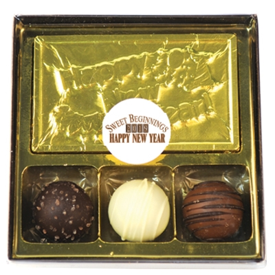 New Years Eve Gift box with chocolate truffles