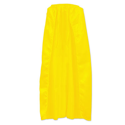 Yellow silk like fabric cape.