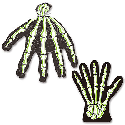 halloween treat bags with a skeleton hand that are perfect for handing out Halloween candy