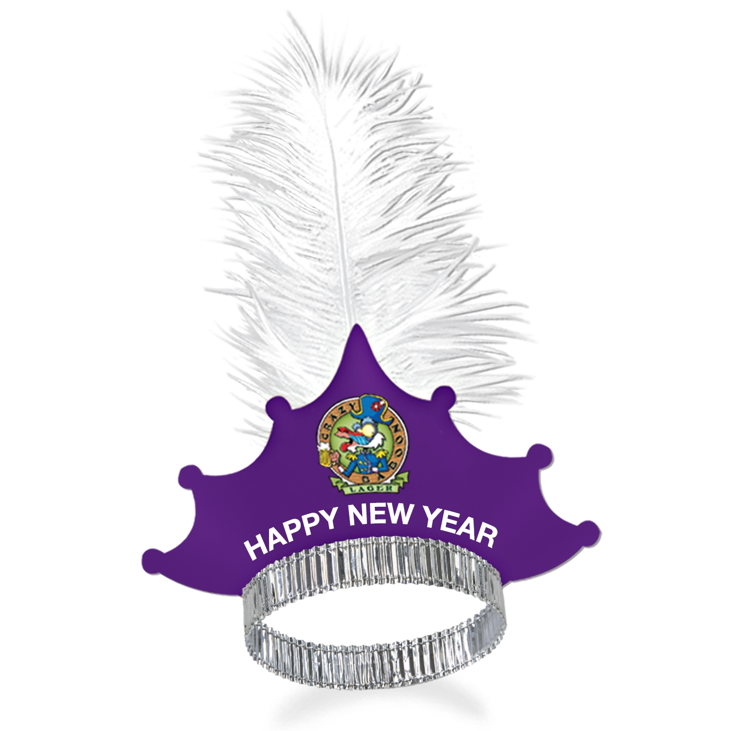 customizable tiara for New Years eve available with our without a feather