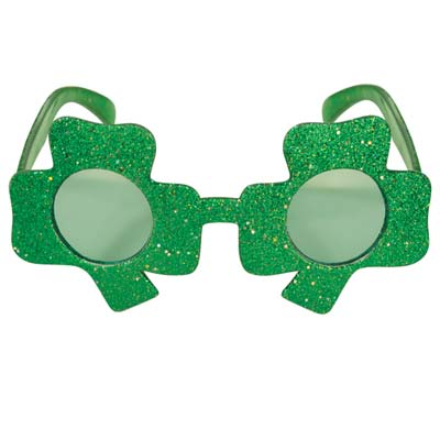 green shamrock eyeglasses for St. Patricks Day