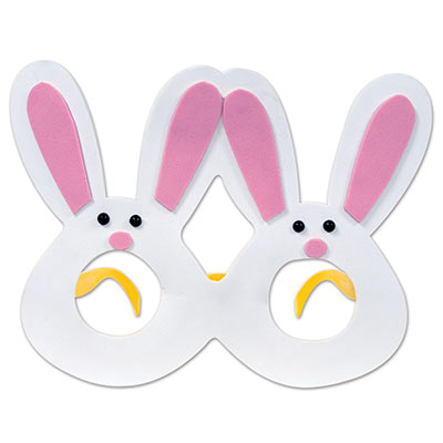 cute eyeglasses for Easter that looks like little bunnies that are white with pink ears