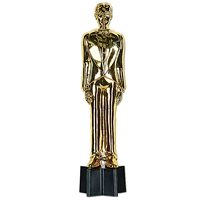 awards night statue in gold that looks like an Oscar award