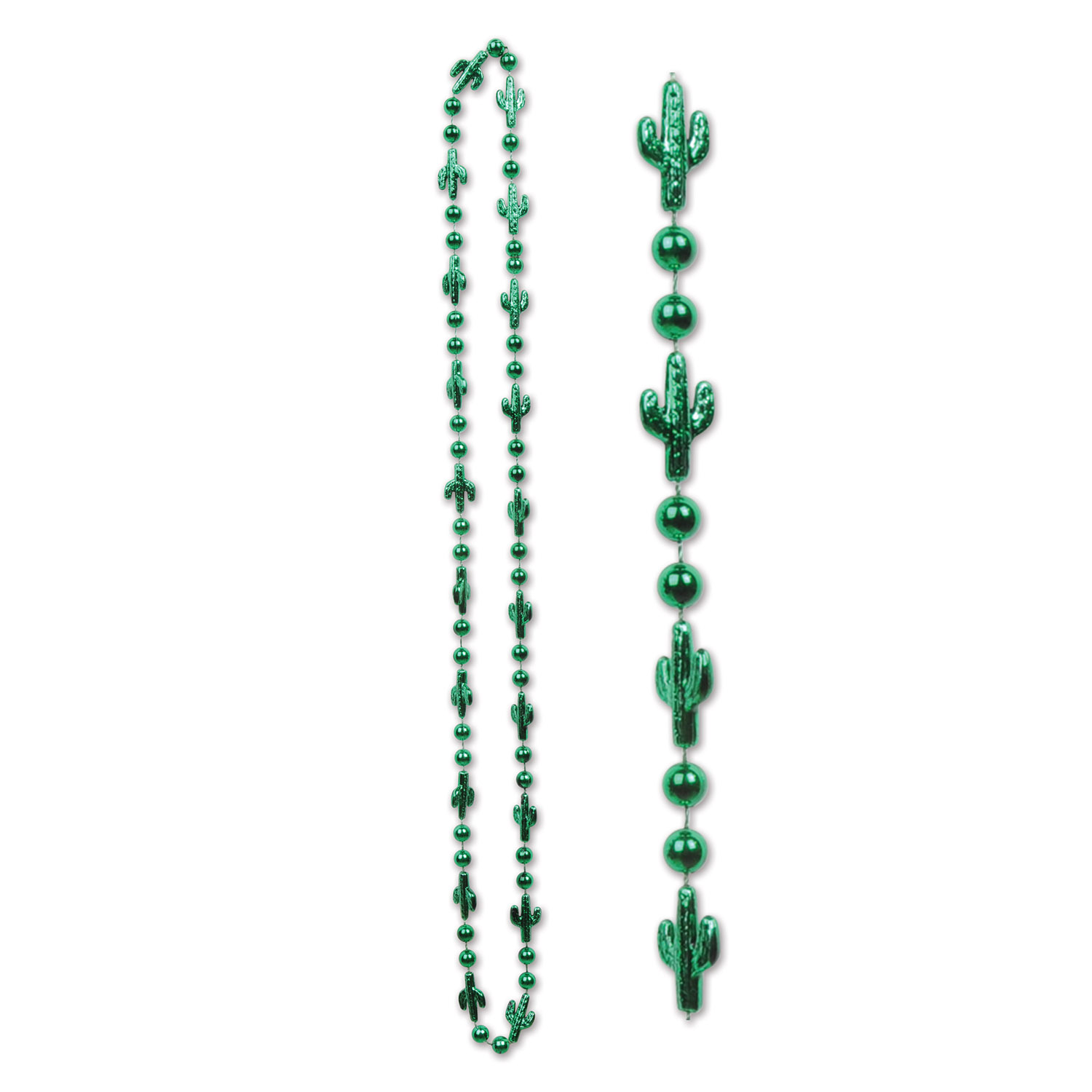 beads with green cactus around the necklace in a western theme