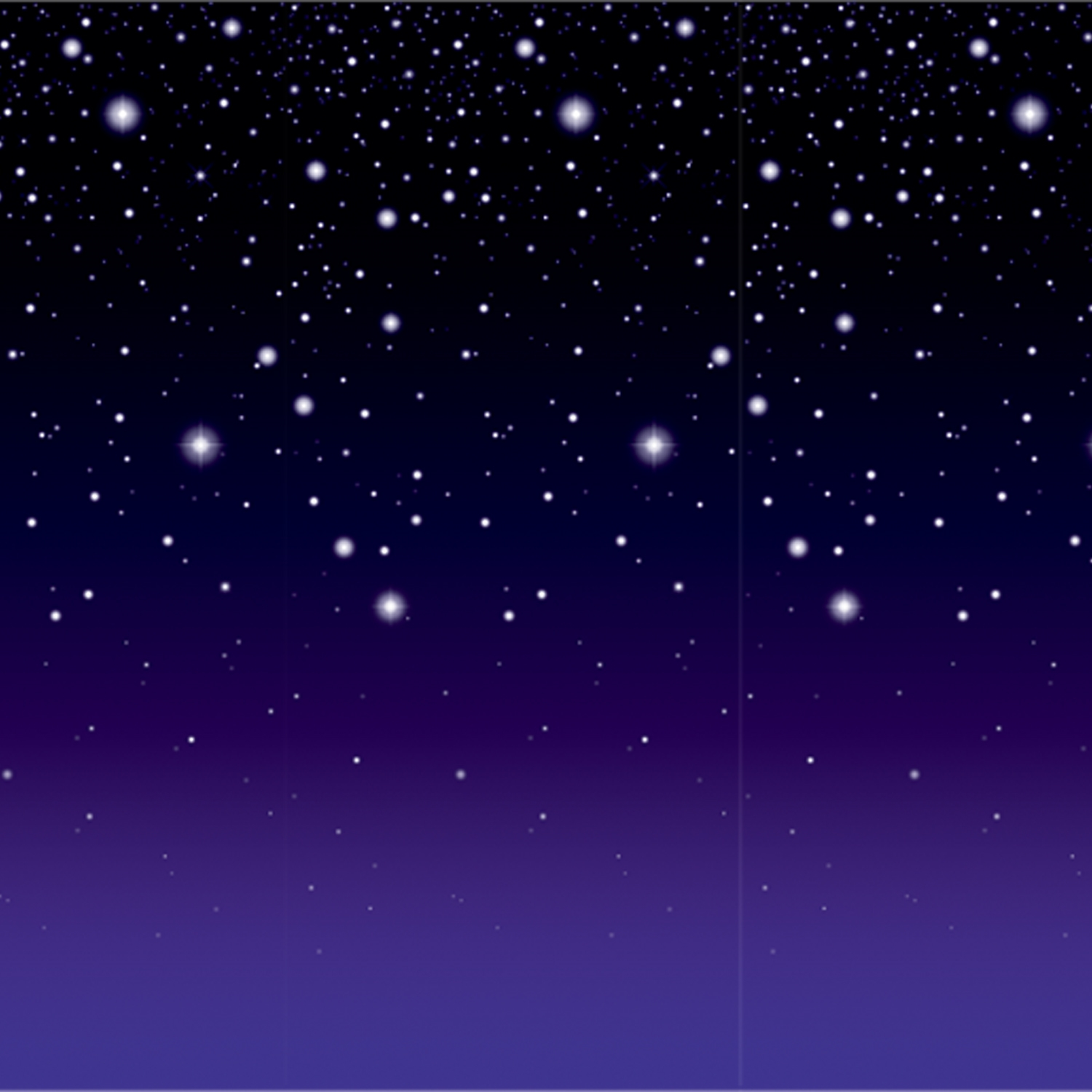Starry night photo backdrop with soft purple on the bottom and dark black with stars on the top.
