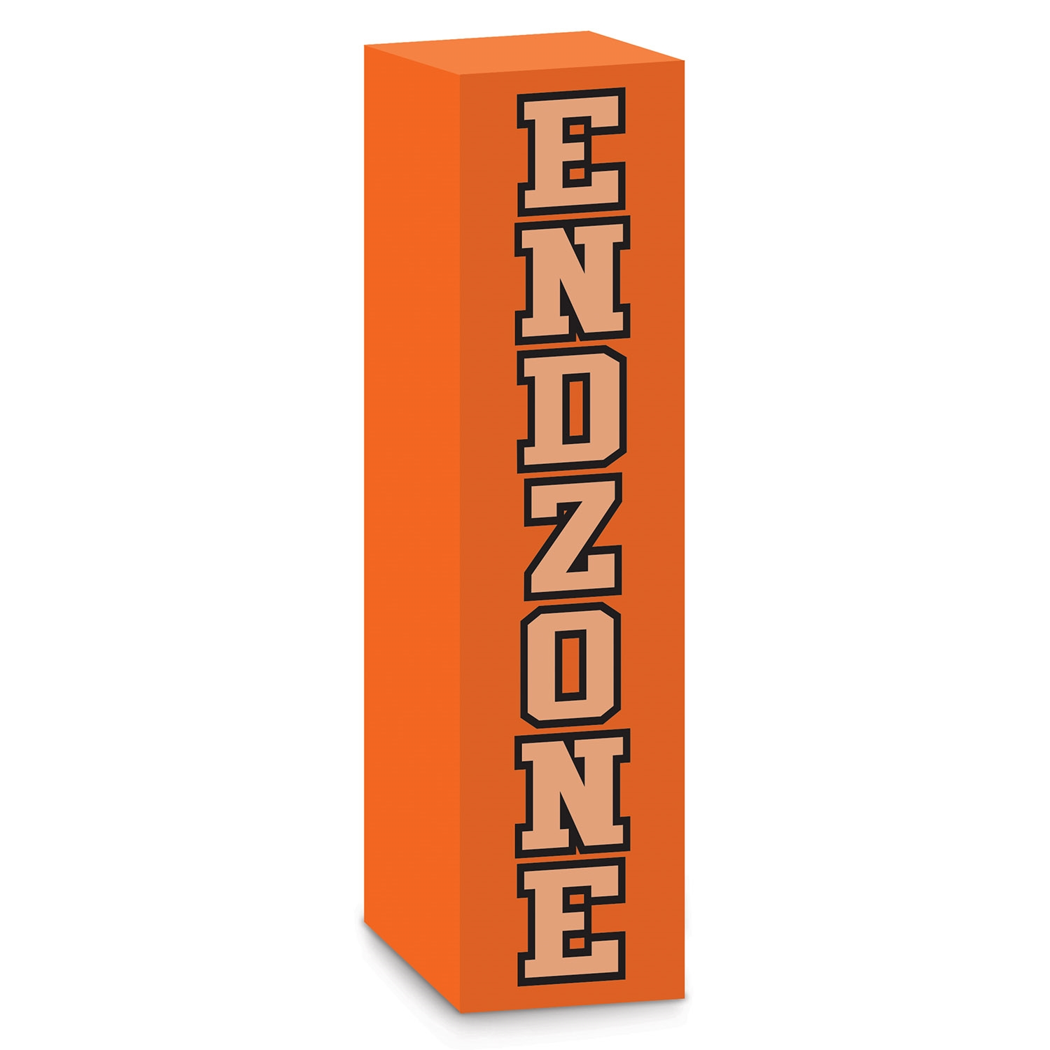 orange football end zone pylon party favor
