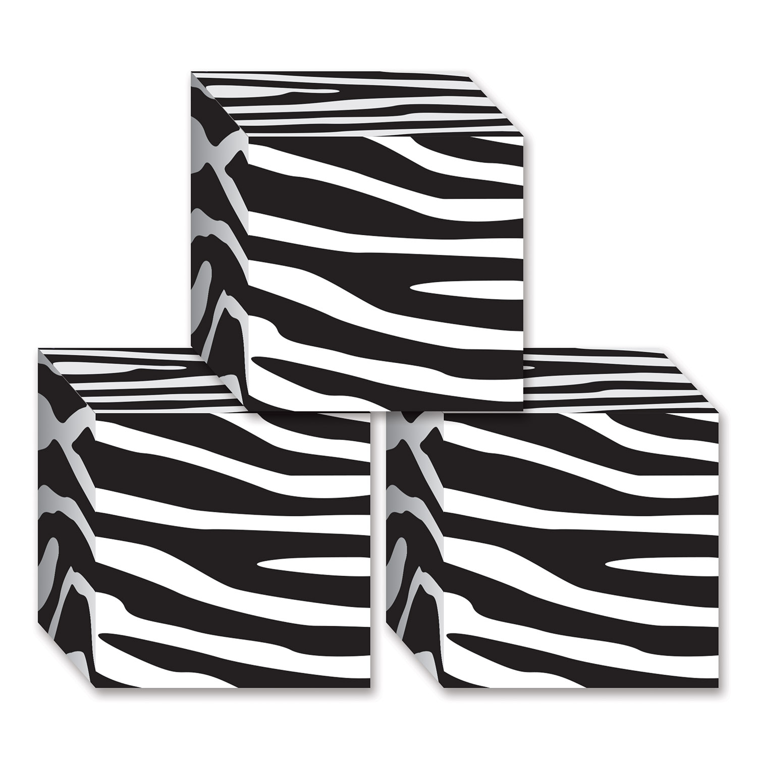 favor boxes with black and white zebra print on them