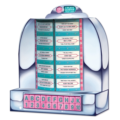 a 1950s style jukebox that is a tabletop decoration