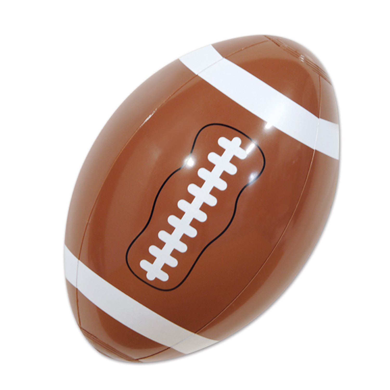 brown inflatable football