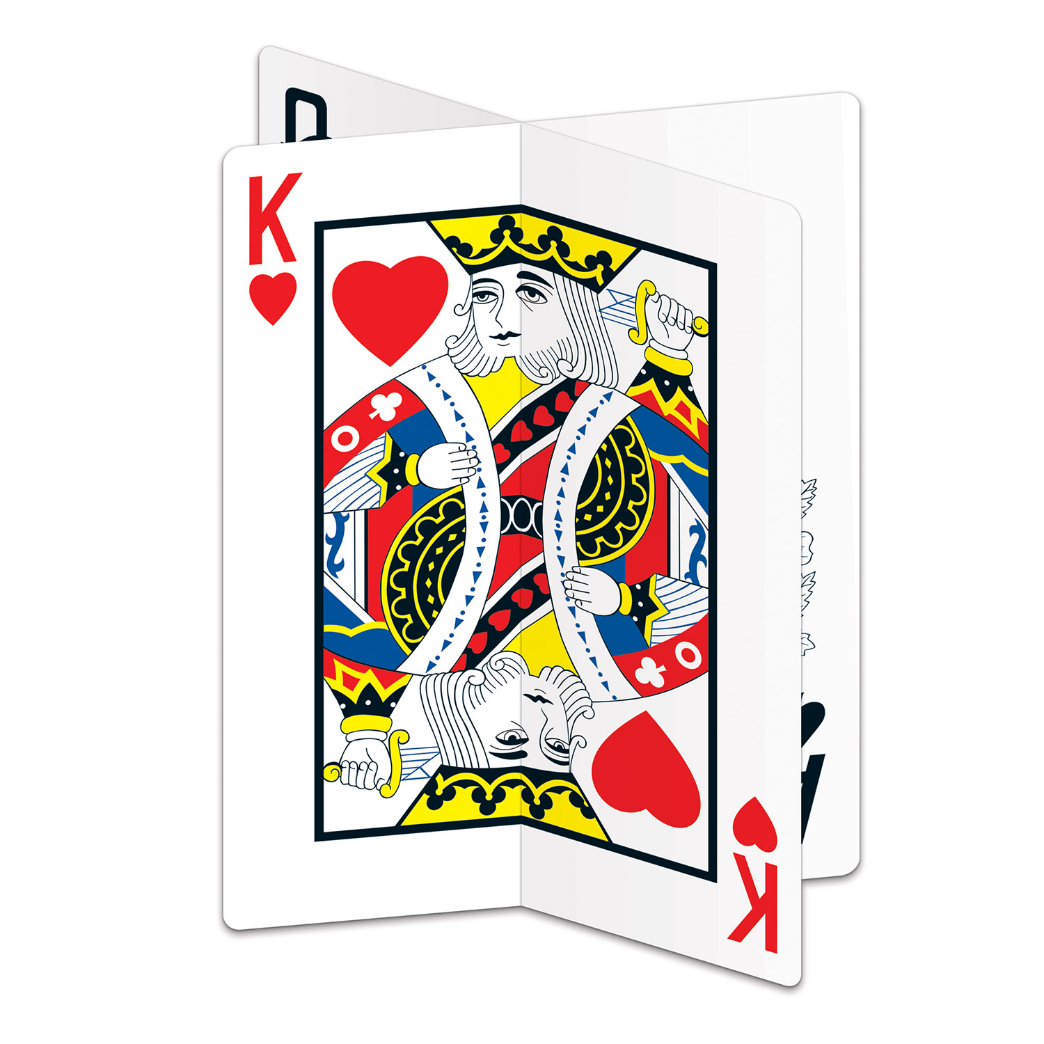 king of hearts playing card centerpiece decoration