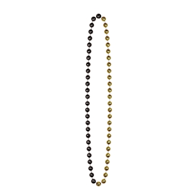 Plastic jumbo sized beads in black and gold.